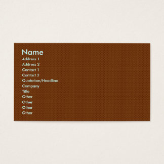 Smart light brown flower with wavy petals on rough business card