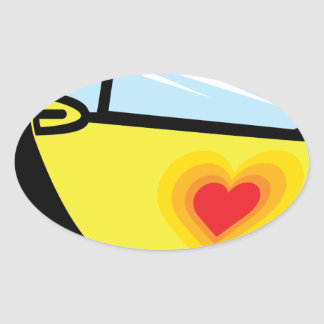 Smart Love Oval Sticker
