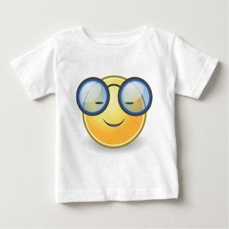Smart Orange Smiley Glasses Baby T-Shirt