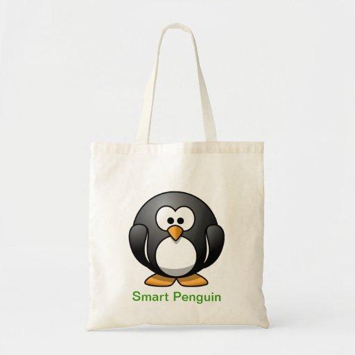 Smart Penguin Canvas Bags