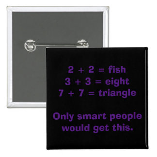 Smart People Math Button