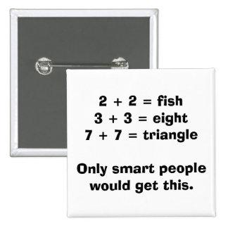 Smart People Math Button