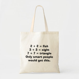Smart People Math Tote Bag