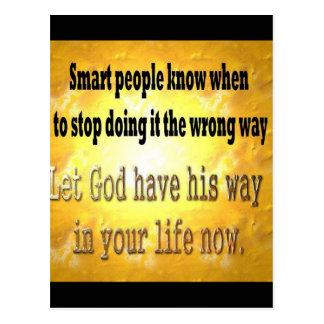 Smart People Postcard