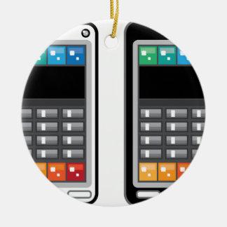 Smart Phone Round Ceramic Ornament