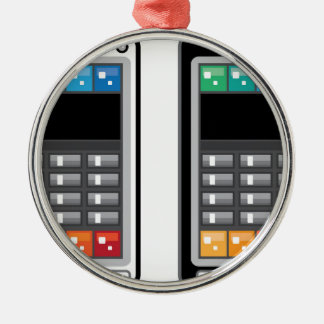 Smart Phone Silver-Colored Round Ornament