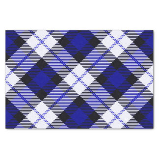smart plaid blue tissue paper