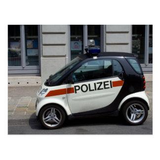 Smart Police Car Postcard