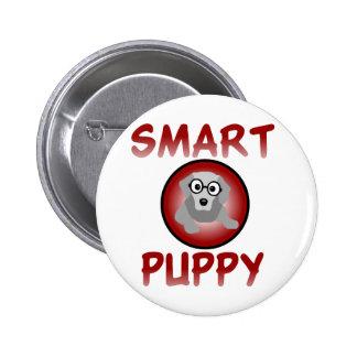 Smart Puppy Pinback Button