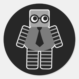 Smart Robot Classic Round Sticker