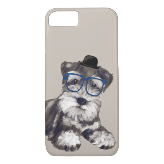 Smart Schnauzer (Background Color Editable) iPhone 8/7 Case