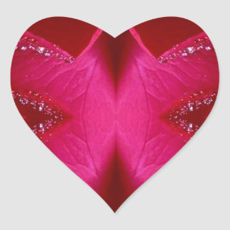 Smart Simple Graphics - Sparkle Red n Pink Rose Heart Sticker