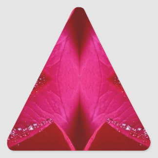 Smart Simple Graphics - Sparkle Red n Pink Rose Triangle Sticker