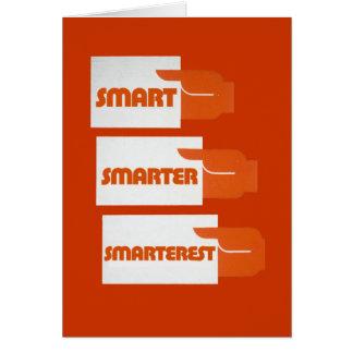 Smart Smarter Note Card