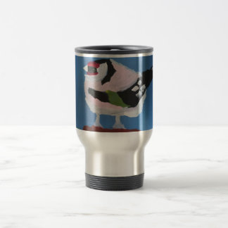 Smart trendy bird abstract painting travel mug