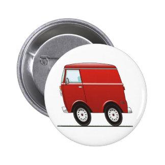 Smart Van Red 2 Inch Round Button