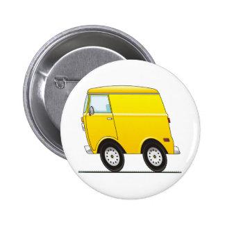 Smart Van Yellow 2 Inch Round Button