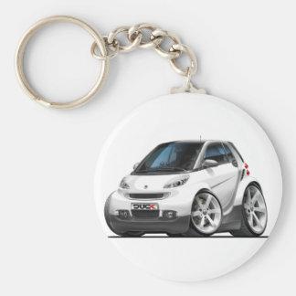 Smart White Car Keychain