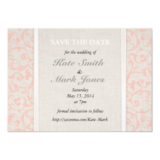 """SmartElegance Coral Save the Date 5"""" X 7"""" Invitation Card"""