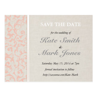 SmartElegance Coral Save the Date Postcard