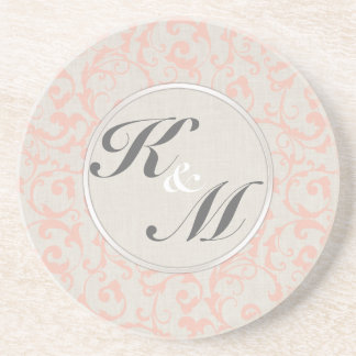 SmartElegance Coral Wedding Collection Beverage Coaster