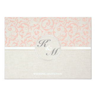 SmartElegance Coral Wedding Invitation (P)