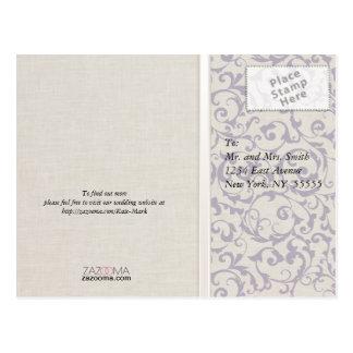 SmartElegance lavender Wedding Collection Postcard