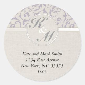 SmartElegance lavender Wedding Collection Round Sticker