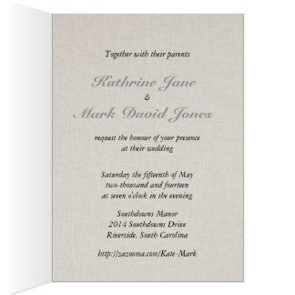 SmartElegance Lavender Wedding Invitation Greeting Card