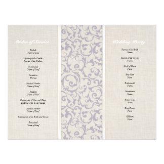 SmartElegance Lavender Wedding Order Of Service Custom Flyer
