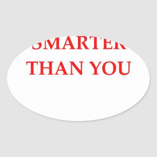 SMARTER OVAL STICKER