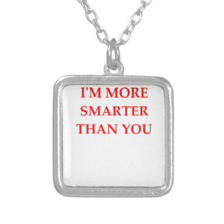 SMARTER SILVER PLATED NECKLACE