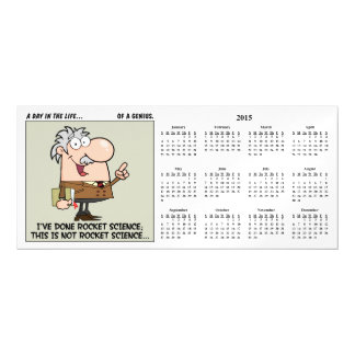 Smartest Person at Work 2015 Calendar Magnetic Invitations