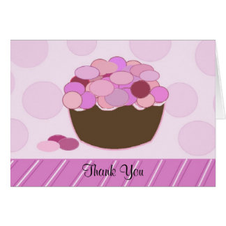 Smartie Cupcake Thank You Note Card