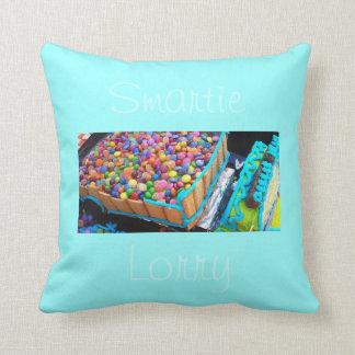 Smartie Lorry Cake 1 Throw Pillow
