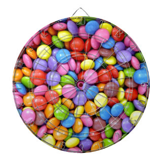 Smarties Background Dartboard With Darts