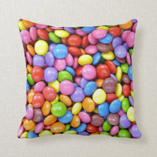 Smarties Background Throw Pillow