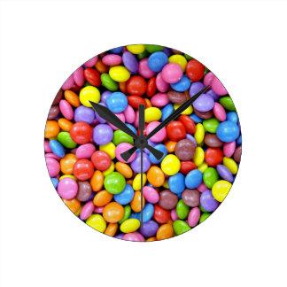 Smarties Background Wall Clocks