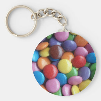 Smarties Key ring Basic Round Button Keychain