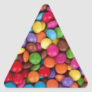 Smarties Multicoloured Sweets Triangle Sticker