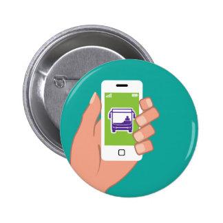 Smartphone application Bus service Online 2 Inch Round Button