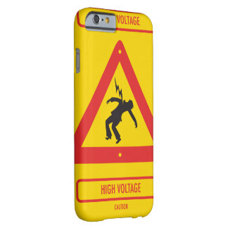Smartphone case looks like high voltage sign