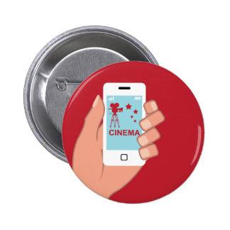 Smartphone vector Cinema App 2 Inch Round Button