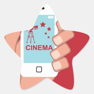 Smartphone vector Cinema App Star Sticker