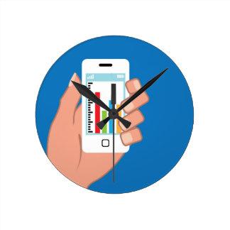 Smartphone with a graph wallclocks