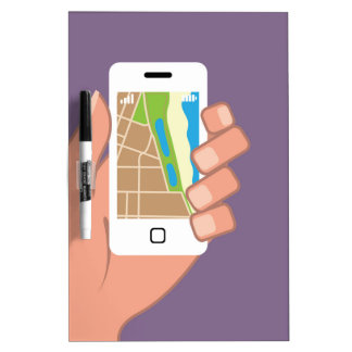 Smartphone with a map App Dry-Erase Whiteboards