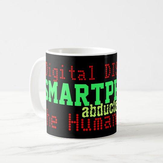 Smartphones Digital Distress Humour Mug