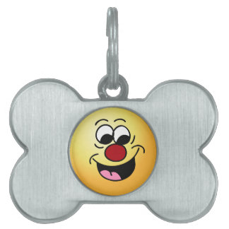 Smarty Pants Smiley Face Grumpey Pet Name Tags