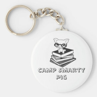 smartypig, Camp Smarty Pig Basic Round Button Keychain