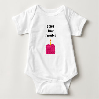 Smash cake outfit baby bodysuit